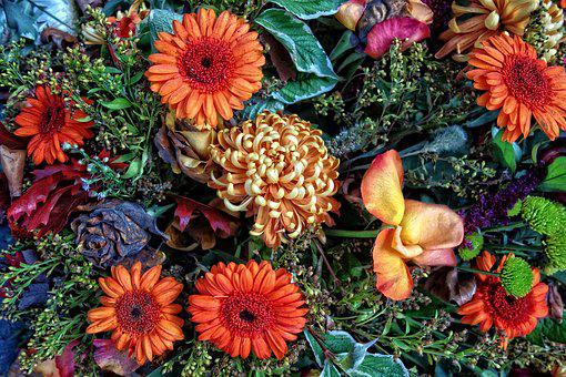 Bouquet, Flowers, Arrangement, Bouquet Of Flowers