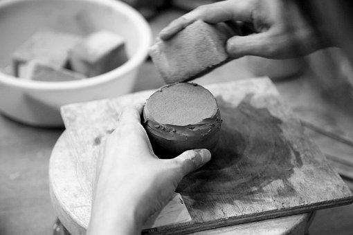 Porcelain, Hand, Dirt, Clay, Qualitative, Ware