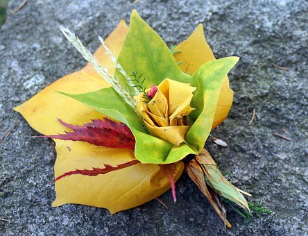 Bouquet, Autumn, Foliage, Composition, Nature