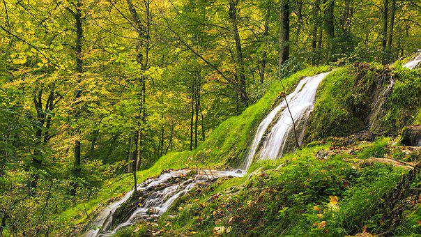 Waterfall, Bad Urach, Urach Waterfall, Alb Eaves, Gorge