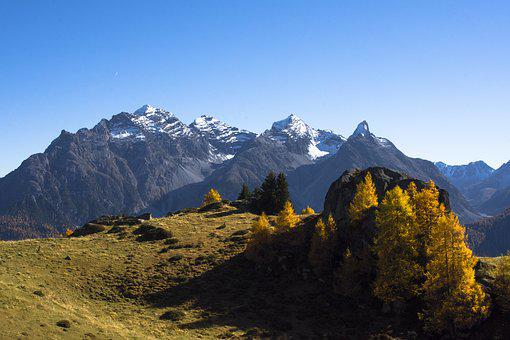 Mountains, Autumn, Alpine, Landscape, Nature
