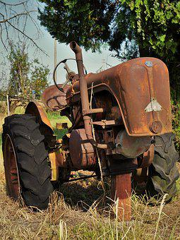 Tractor, Stainless, Italy, Machine, Old, Oldtimer
