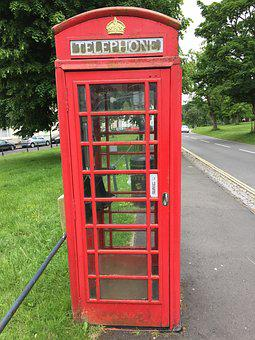 Phone, England, Phone Booth, Red, Red Telephone Box