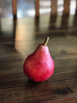 Red, Pear, Still Life, Fruit, Oregon