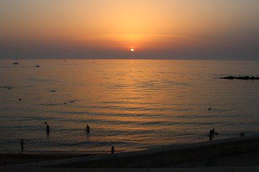 Sunset, Gallipoli, Puglia, Italy, Salento, Summer, Sea