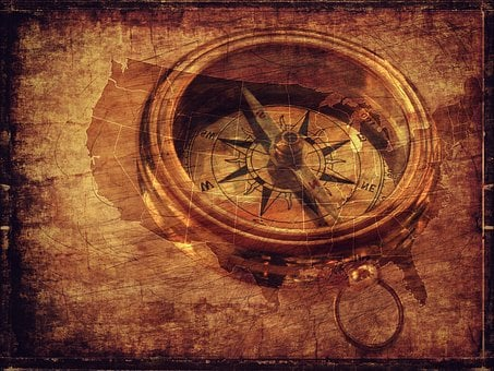 Texture, Background, Compass, Compass Point, Map