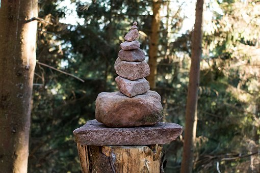 Thoughtful, Stones, Stone Tower, Sculpture, Nature