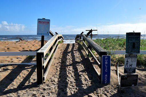 Beach Access, Walkway, Beach, Ocean, Sand, Wooden