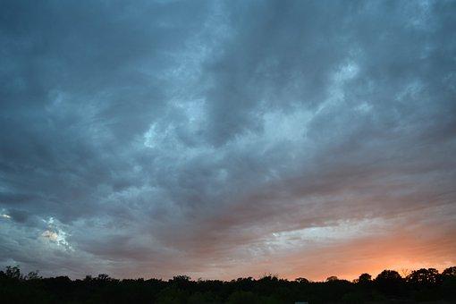 Dark Sky, Sunset, Summer, Scene, Outdoor, Weather