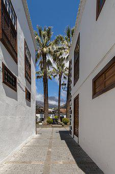 Alley, Narrow Lane, Canary Islands, Palm, Old Town, Eng
