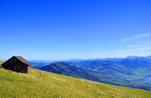 Alpine, Mountain Hut, Foresight, Nature, Rigi, Autumn