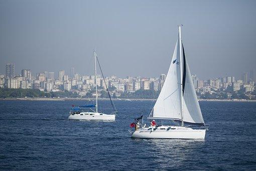 Sailboat, Ship, Boat, Marine, Travel, Sky, Background