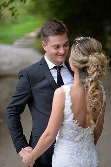 Married, Groom, Bride, Wedding Couple, Love, Outdoors