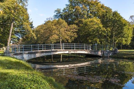 Bridge, Water, Channel, Landscape, River, Bach, Park