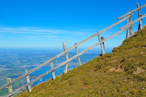 Fence, Foresight, Landscape, Rigi, Nature, Mountain