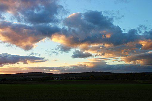 Evening Clouds, Wolkenspiel, Westerwald, Nature