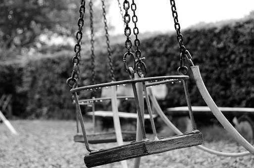 Swing, Black And White, Expressive, Surreal, Sit, Sw