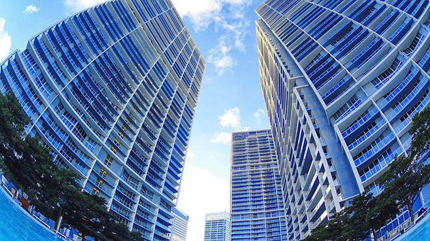 Miami, Florida, Pool, City, Urban, Luxury, Skyscraper