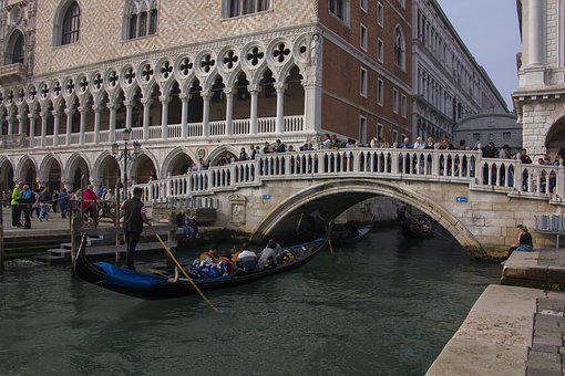 Italy, Venice, Bridge, Home, Channel, Boats, Water