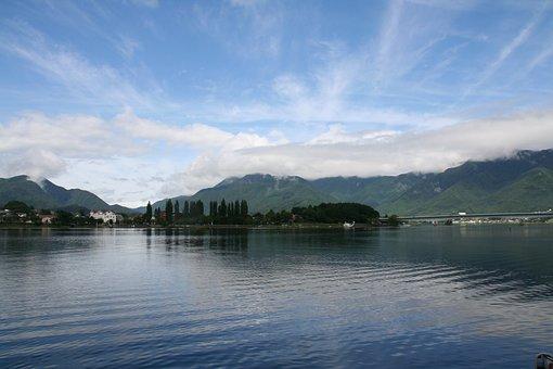 Japan, Beautiful Lake, Clouds