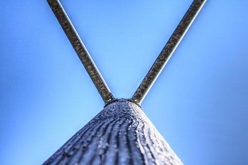 Klettergerüst, Playground, Iron Rod, Wooden Posts, Pile