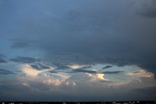 Sky, Clouds, Blue, Landscape, Mood