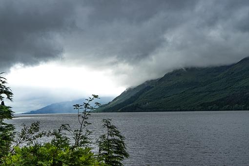 Loch Ness, Scotland, Sky, Light, Lake
