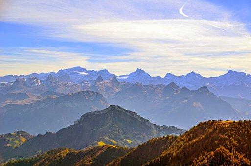 Alpine, Foresight, Mountains, Mountain Summit, Panorama