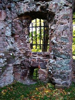 Ruin, Rabenstein, Autumn, Sunlight, Mood, Forest