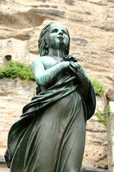 Angel, Cemetery, Salzburg, Sculpture, Standing, Grave