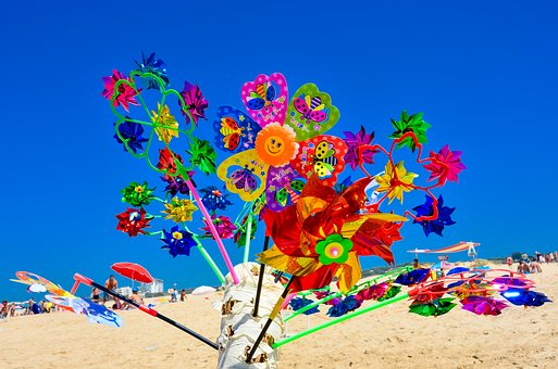 Beach, Windspiel, Nature, Decoration, Sand Beach, Sand