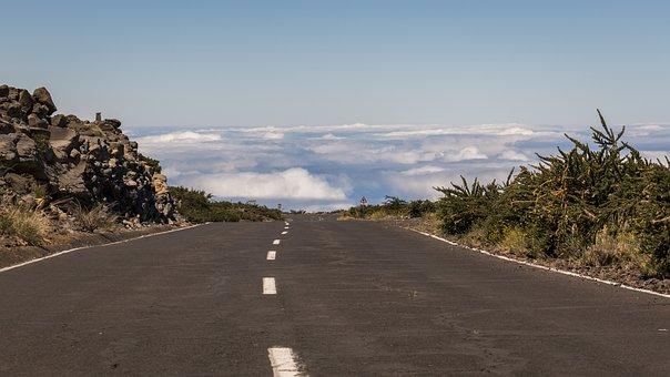 Road, Clouds, Sky, Mountains, Landscape, Nature
