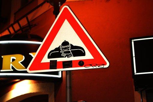 Interesting Sign Board, Street Sign, Street, Sign