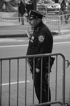 Policeman, New York, Manhattan, Uniform, Cop, Nyc