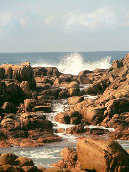 Spain, Coast Of Death, Stones, Rock, Sea, Surf, Water