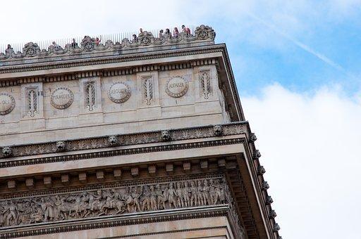 Arc De Triomphe, Paris, France, Details, Architecture