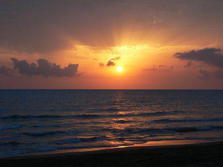 Sunset, Sea, Beach, Sunset Colors, Atmosphere, Evening