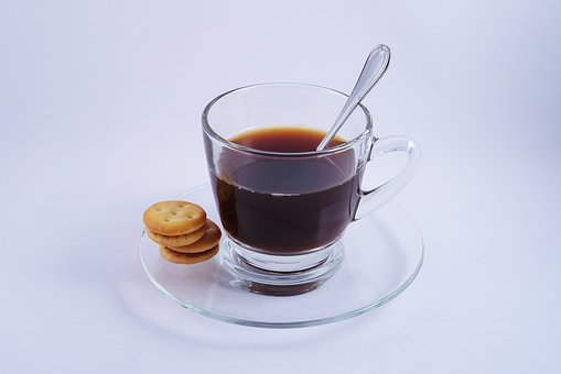 Coffee, Hot, Glass, Espresso, Biscuit, Obect, Drink
