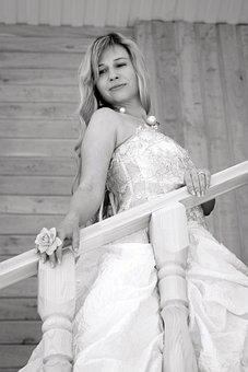 Wedding, Bride, Bridesmaid Dress, White Dress, Girl