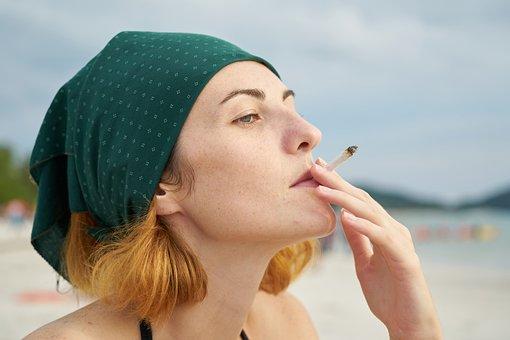 Women's, Bandana, Cigarette, Drink, Passion, Adult