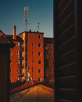 Milan, Sunset, City, Sky, Architecture, Downtown, Sun
