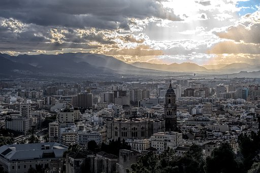 Malaga, Spain, Travel, Destination, Europe, View, Dawn
