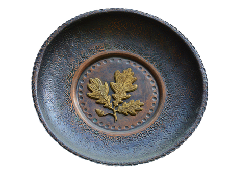Plate, Bowl, Shell, Old, Brass Bowl, Decoration, Deco
