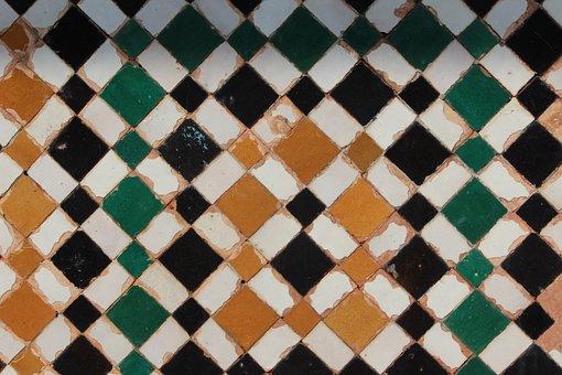 Tile, Morocco, Rabat, Fes, Crafts, Decoration, Color