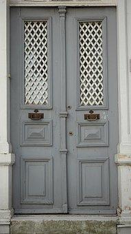 Grey, Door, Home, Old Building, Decoration