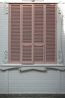 Pink, Wood, Door, Home, Old Building, Decoration