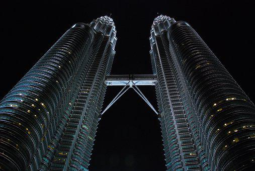Malaysia, Landscape, Building, Twin Building