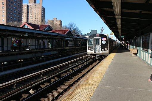 Metro, Train, City, New York