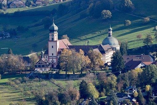 Monastery, Church, St Trudpert, Landscape