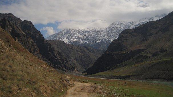 Mountain River, Tajikistan, Pamir